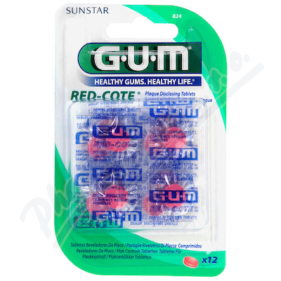 GUM tablety Red-Cote k indikaci plaku 12ks G824MB