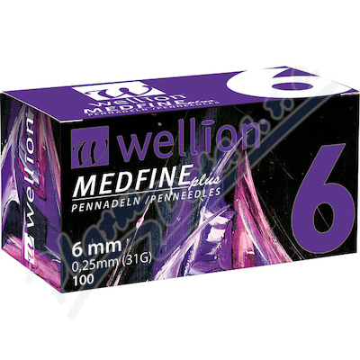 Jehly WELLION MEDFINE PLUS 31Gx6mm 100ks inz.pera