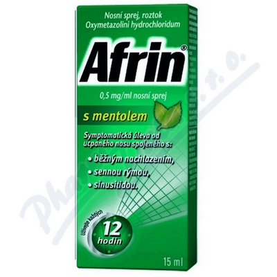 Afrin 0.5mg/ml nosní sprej s mentolem 1x15ml/7.5mg