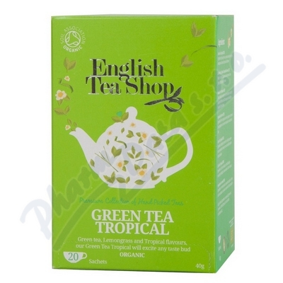 English Tea Shop Bio Zelený Čaj Trop.Ovoce 20s.