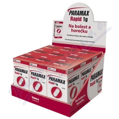 Paramax Rapid 1g por.tbl.nob. 9x15x1000mg display