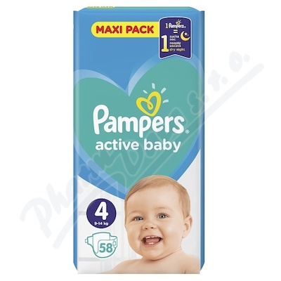 PAMPERS Active Baby VPP 4 Maxi 58ks