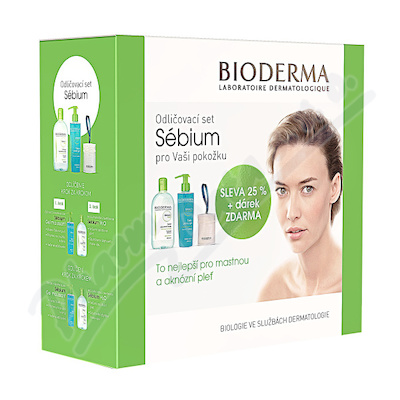 BIODERMA Sébium H2O 500ml+Gel mous.200ml+odl.tamp.